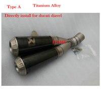 Customized Akrapovic Exhaust Motorcycle Titanium Alloy Echappement Moto For DUCATI Diavel Muffler Pipe