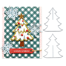 Julyarts Merry Christmas Tree Frame Metal Cutting Dies for DIY Scrapbook Photo Album PaperCard Craft Embossing