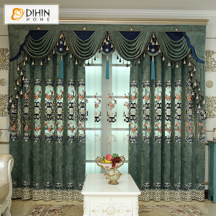 Luxury european style jacquard curtain for living room - European style curtains for living room ...