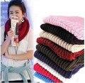 2016 Nueva Manera Coreana otoño invierno de la bufanda de las mujeres Caliente de Punto de Cuello círculo Anillo Bufandas de Lana Blend Cowl Redecilla Bufanda Larga Del Mantón