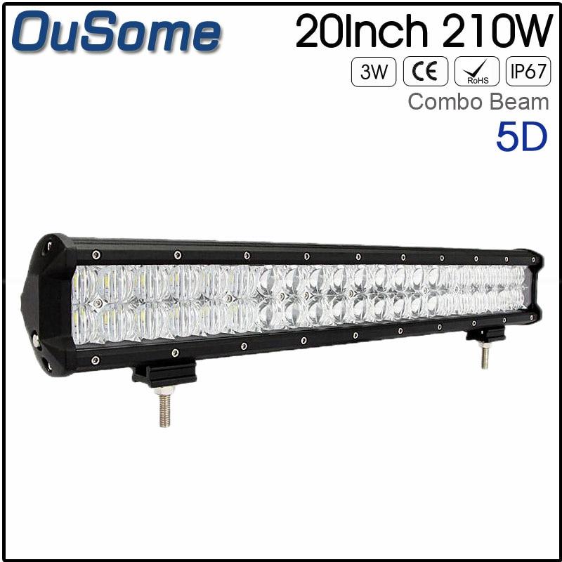 2 ans de garantie 20 pouces 210 W combo faisceau IP67 étanche 12 v 24 v offroad 4x4 voiture lumière LED bar 5D