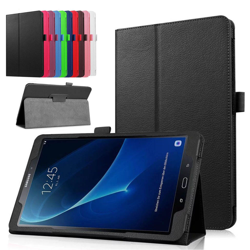 buy online a5e23 1196b US $7.11 14% OFF|Case For Samsung Galaxy Tab E NOOK 9.6 SM T560 SM T567V  Tab E Verizon 9.6 Inch Leather Flip Case Stand Tablet Protective Cover-in  ...