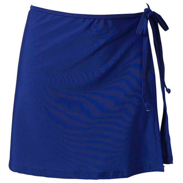 Women Fashion Beach Vacation Bikini Skirt Solid Color Lace-Up Mini Skirt Female Swim Bikini Bottom Hot Sale 3