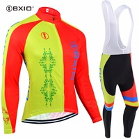 BXIO Winter Cycling Sets Thermal Fleece Long Sleeve Autumn Bicycle Clothes Pro Team Bike Clothing Invierno Ropa Ciclismo 117
