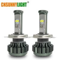 CNSUNNYLIGHT Car Led H4 H13 9004 9007 High Low Beam 8000Lm XP L Chips Turbo Headlight