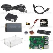 Raspberry Pi 3 Modèle B Conseil + 3.5 Écran Tactile + Cas + 16 GB TF Carte + Ventilateur De Refroidissement + Dissipateur de Chaleur + Alimentation 2.5a (de L'UE OU des ÉTATS-UNIS)