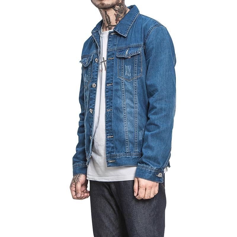 ZhenZhou M-5XL 5 Styles Höst Vinter Mode Denim Jackor Män Jeans - Herrkläder