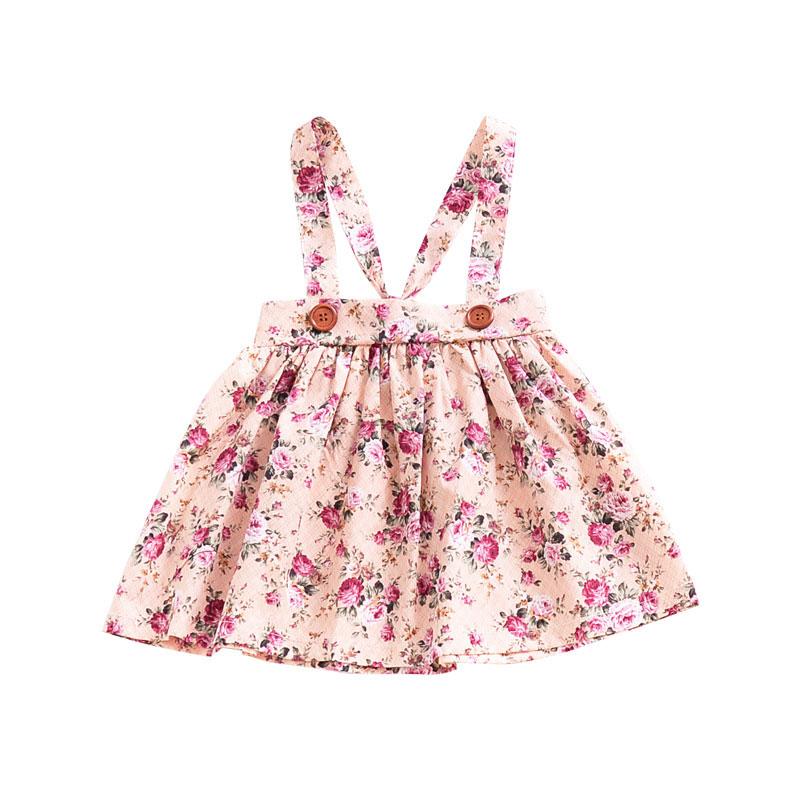 HTB1 qXmm0bJ8KJjy1zjq6yqapXad - 1-4y Summer Children Clothing Floral Girl Skirt Cotton Cute Toddler Suspender Skirts for Baby Girls Clothing