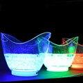 1 peça única cor recarregável enorme luminosa 8L LED Balde de GELO champanhe balde de gelo da cerveja