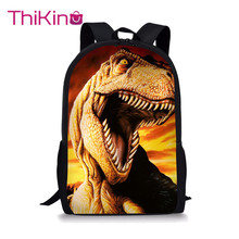Thikin Jurassic World High Students School Bag for Teenagers Backpack Boys Travel Package Shopping Shoulder Women Mochila