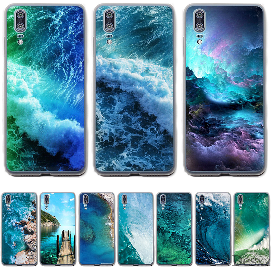 Us 239 Phone Case Cover Ocean Iphone Wallpaper For Huawei P Smart P8 P9 P10 P20 Lite Pro P20pro 2015 2016 2017 Cases In Fitted Cases From