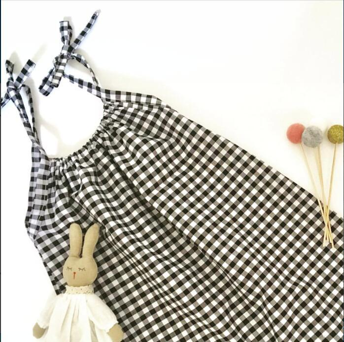 38f28ecb5204 2018 Ins European America Toddler Baby Girl boys Vintage Overalls Plaid  Cotton Rompers Summer Kids Clothings-in Rompers from Mother   Kids on  Aliexpress.com ...