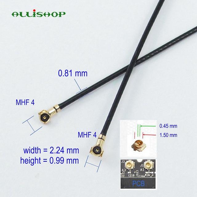 ALLiSHOP 5Ccm/10 cm/20 cm/30 cm MHF4 à MHF4 VI IPX IPEX 0.81mm RF câble de raccordement coaxial antenne 50 ohms 0-6 GHZ pour téléphone WiFi