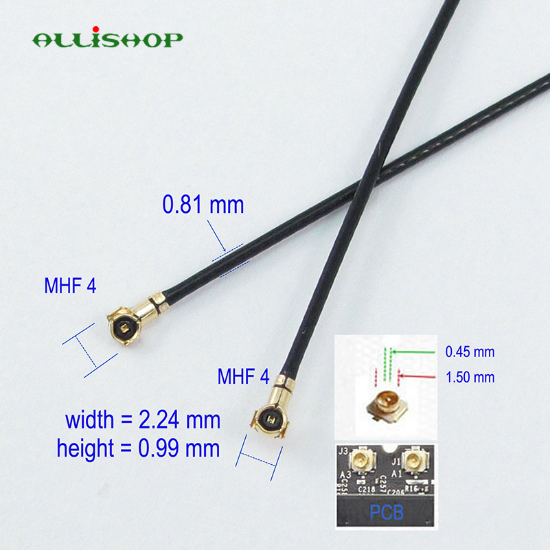 ALLiSHOP 5cm/10cm/20cm/30cm MHF4 To MHF4 VI IPX IPEX 0.81mm RF Pigtail Coax Jumper Cable Antenna 50 Ohm 0-6GHZ For Phone WiFi
