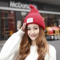 Женщины НЬЮ-ЙОРКА письма патч ткань плюс кашемир вязаная шапка Осень и зима прилив sharp пустышки теплую шапку