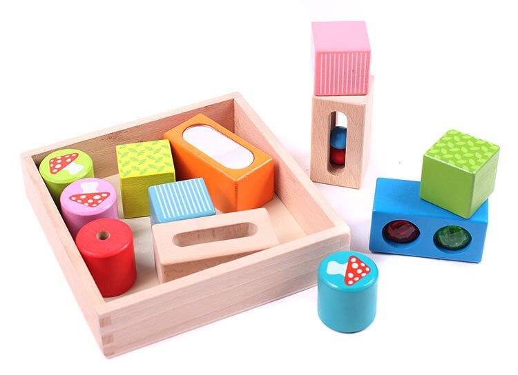 2017 new arrive children toys colorful building blocks sense building blocks wooden toys stacking up blocks LL62 muwanzi wooden beaded toys colorful mini building blocks for toddler
