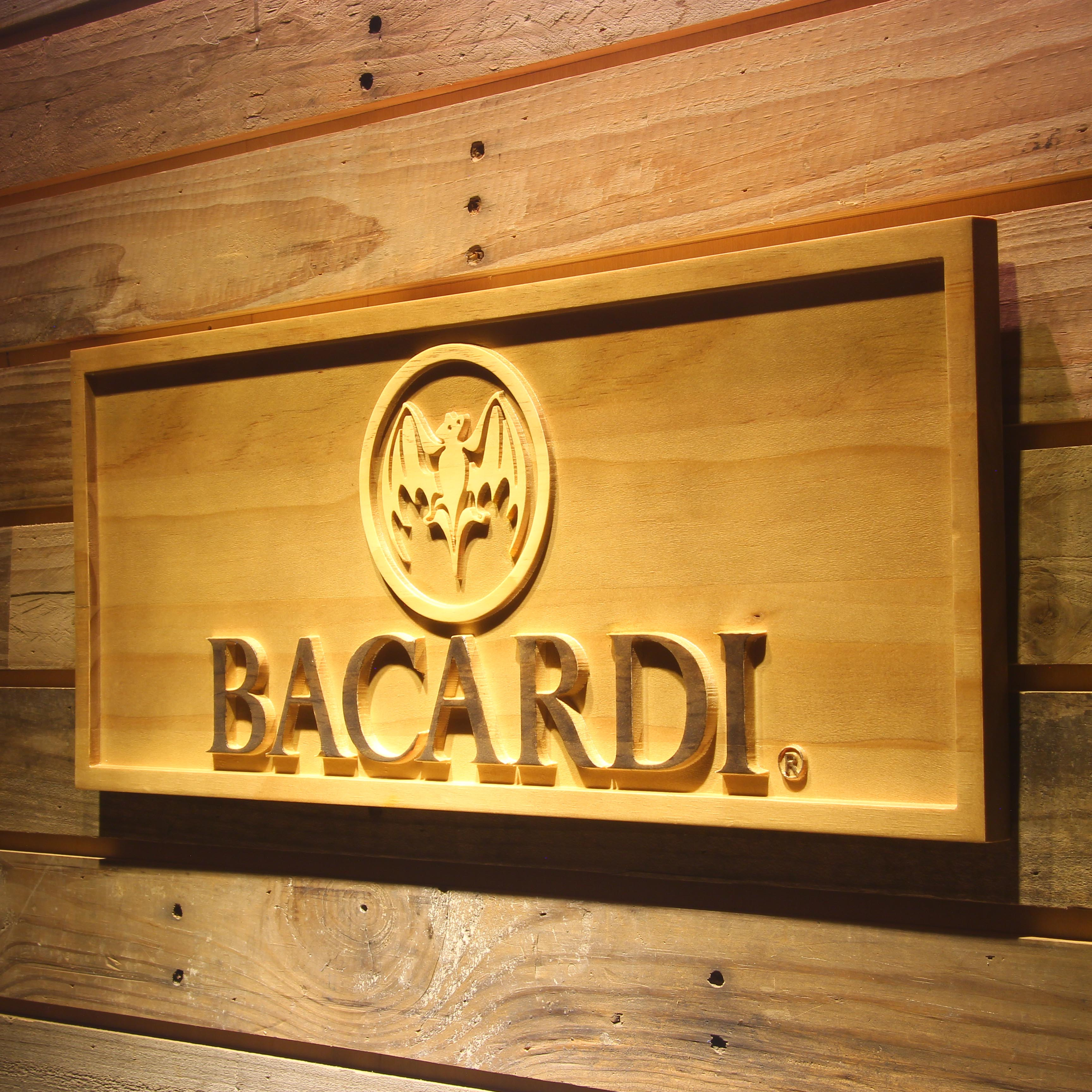 Bacardi Beer 3D Wooden Signs
