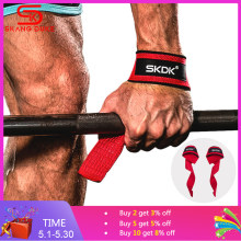 Gym Fitness Weight Lifting Hand Grips Bands Sport Dumbbell Training Wrist Support Ribbon Straps barbell Pull up(China)