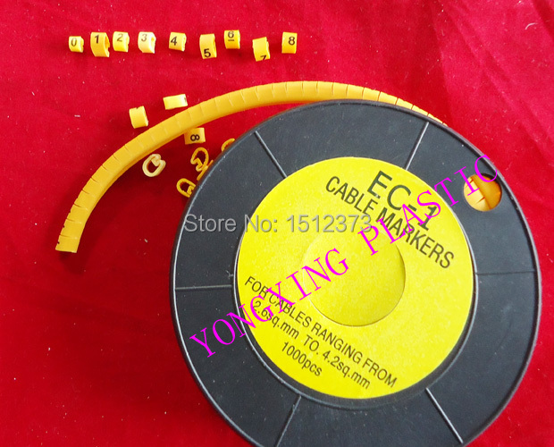 10roll/lot EC-1 2.5MM2 0-9 number each number 1 roll 1000pcs/roll 1000pcs 1 4w metal film resistors 750kohm 1