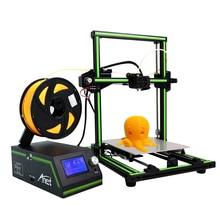 Новый Анет E10 Алюминий Рамки Desktop 3D принтер Высокая точность RepRap I3 3D-принтеры DIY Kit Off-Line печать Бесплатная 10 м нити