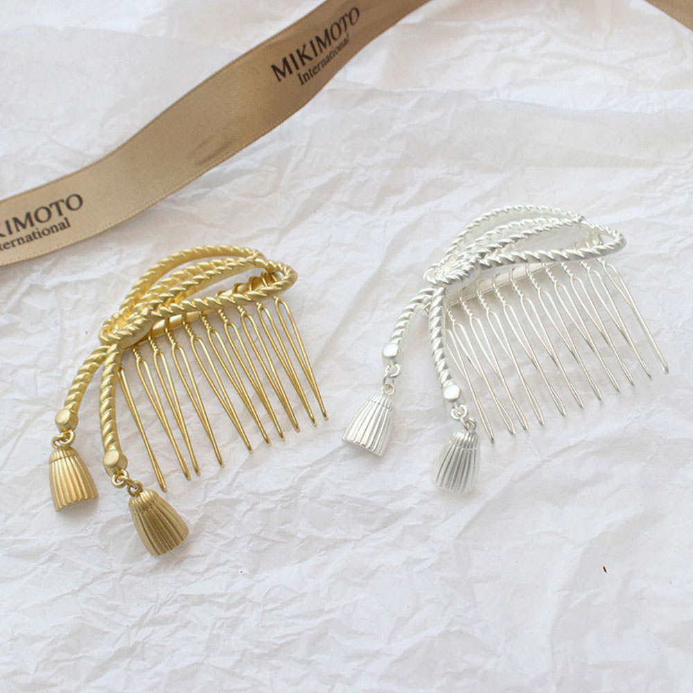 2019 New Women Bowknot Hair Combs Hair Clip Metal Tassel Hair Pin Stick Hair Accessories Geometric Irregular Hairgrip Headwear in Women 39 s Hair Accessories from Apparel Accessories