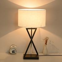 Modern Bedside Bedroom Wooden Table Lamp Light AC 110V/220V European style Creative Personality DIY Table Light For Living Room