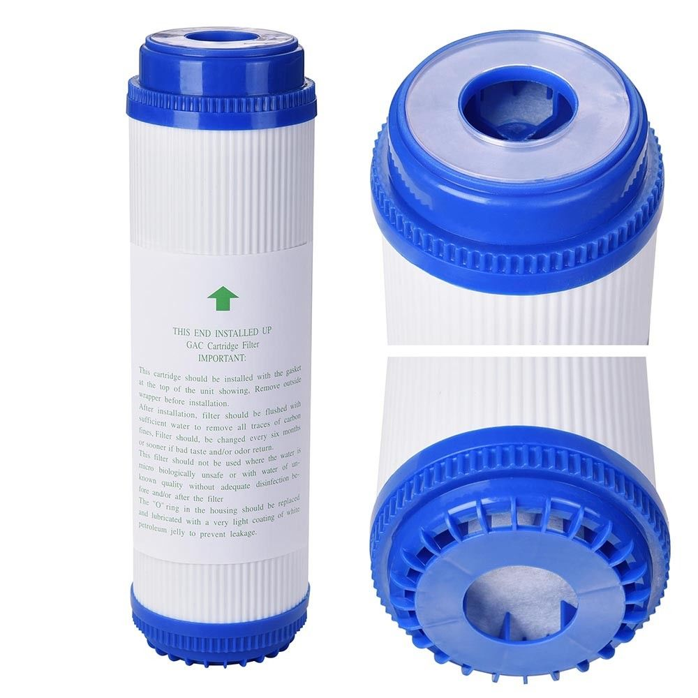 10 Inch Pre-Filter UDF Filter Cartridge GAC GRANULAR ACTIVATED CARBON WATER FILTER TASTE/ODOR For REVERSE OSMOSIS 3 levels 20 inch water filter sets 1 micron ppf sediment udf gac granular activated carbon carbon block cto osmosis purifier