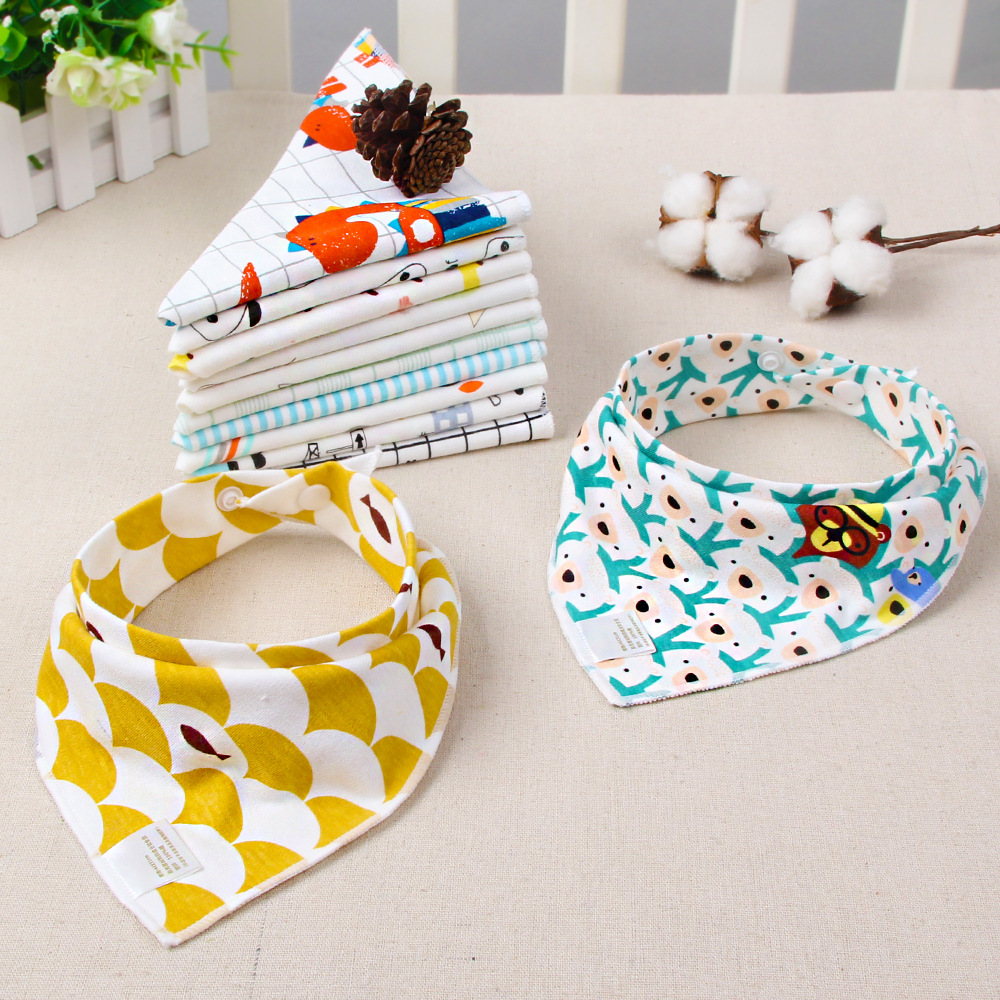 Baby Bandana Bibs Babador Feeding Baby Cotton Bib Soft Burp Cloths Toddler Smock Napkin Baby Saliva Towel Accessories Baby Stuff(China)