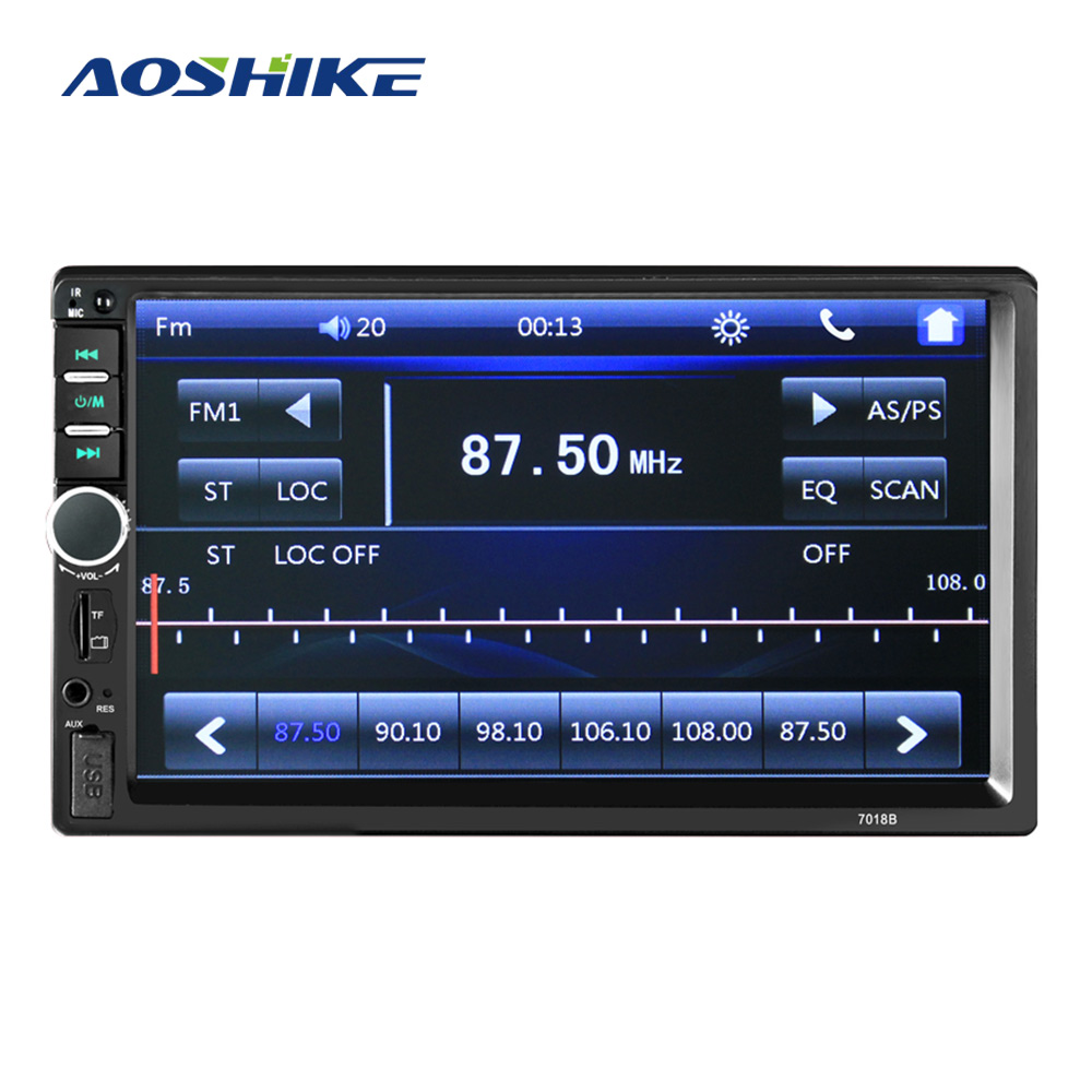 AOSHIKE Car Video Audio HD MP5 Player 7 Inch 1 Din Card Machine Bluetooth Call Reversing FM Digital Display Built-in image