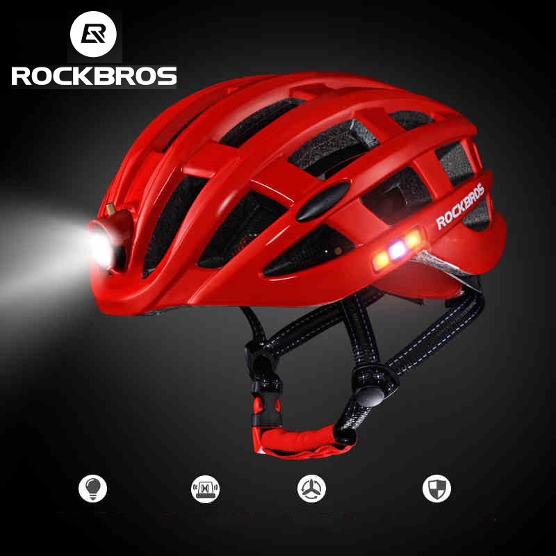 ROCKBROS Ultralight Bicycle Helmet With Light