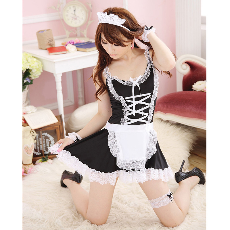 Adult Erotic Toys Hot Sexy Lingerie Fetish Kinky French Maid Cosplay Sex Toys For Couples Apron Servant Lolita Costume Uniform цена 2017