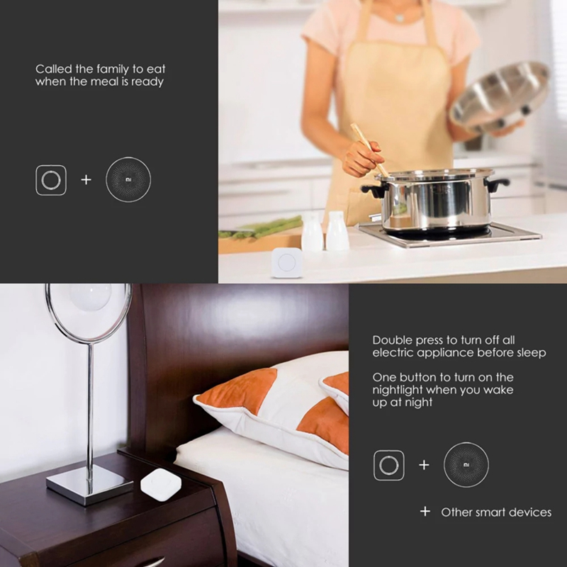 Aqara Smart Wireless Switch Intelligent Application Remote Control ZigBee Wifi Connection For Doorbell