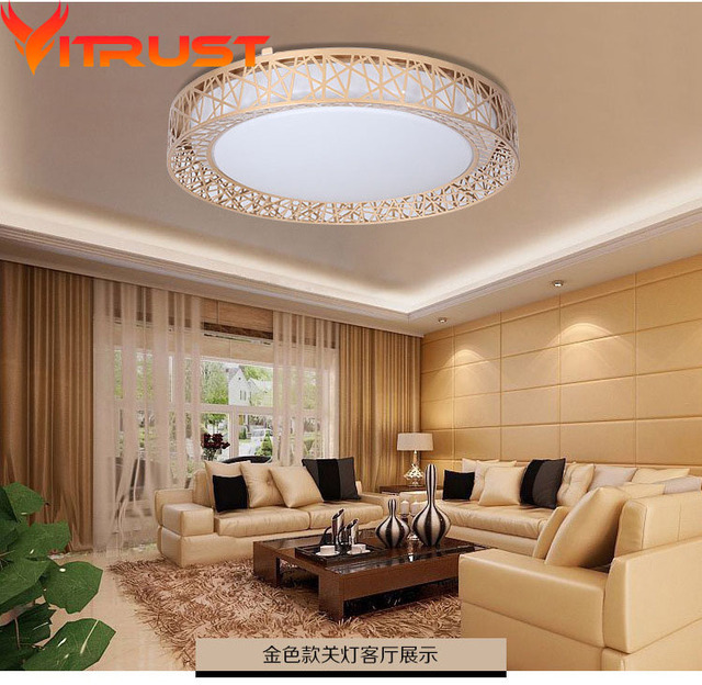 Modern LED Ceiling Lamps Living Room Plafonnier Led Deckenleuchte Luminaire  Plafondlamp Ceiling Lights Bedroom Gold Black