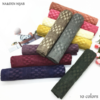 NEW polka dot scarf shawl embroidery design muslim plain scarves and women fashion islamic hijabs brand muffler wrap - sale item Scarves & Wraps