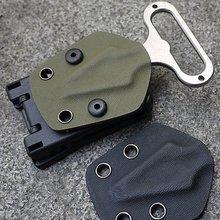 Clip posteriore Kydex Fodero Vita Morsetto di Caccia di Campeggio Clip da Cintura Gear Multi funzione K Guaina Accessori