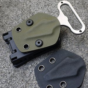 Image 1 - Clip trasero Kydex abrazadera de cintura Scabbard caza Camping cinturón Clip engranaje multifunción K accesorios vaina