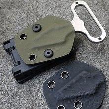 Zurück Clip Kydex Scheide Taille Clamp Jagd Camping Gürtel Clip Getriebe Multi funktion K Mantel Zubehör