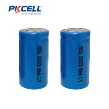 2PCS PKCELL ICR 18350 Lithium ion Battery 3.7V 900mAh Rechargeable Li-ion Batteries Bateria Baterias(China)