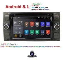 4 ядра Авторадио 2 din Android 8,1 DVD мультимедиа плеер для Ford Focus 3 Mondeo S C Max Fiesta Galaxy аудиомагнитолы автомобильные wi fi