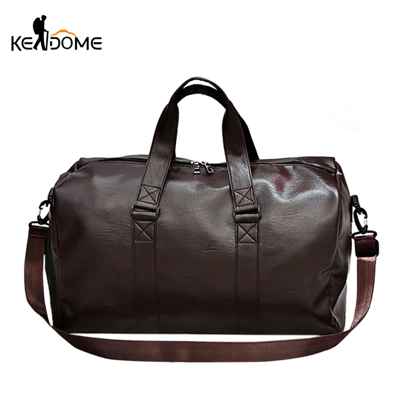 2019 Male Outdoor Sport Gym Fitness Bag For Shoes PU Leather Camping Training Shoulder Bag Travel Luggage Handbag XA852WD