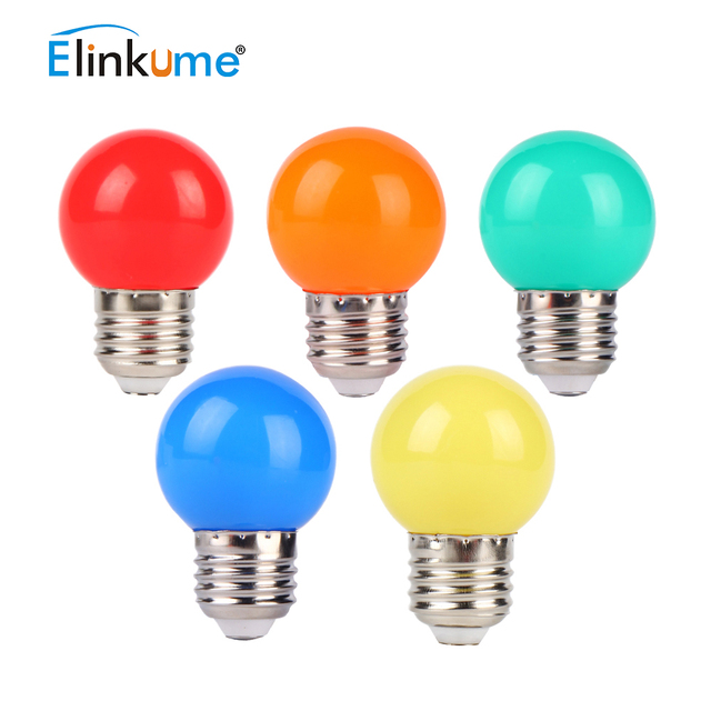 Led Light Bulb Color E27 Port 3w Red Small Outdoor Decoration Atmosphere Colorful Lighting Energy Saving Lamp 50 Pcs