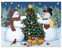 5D Diamond Embroidery Christmas Diy Painting Snowman Tree Cross Stitch Rhinestone Decoration