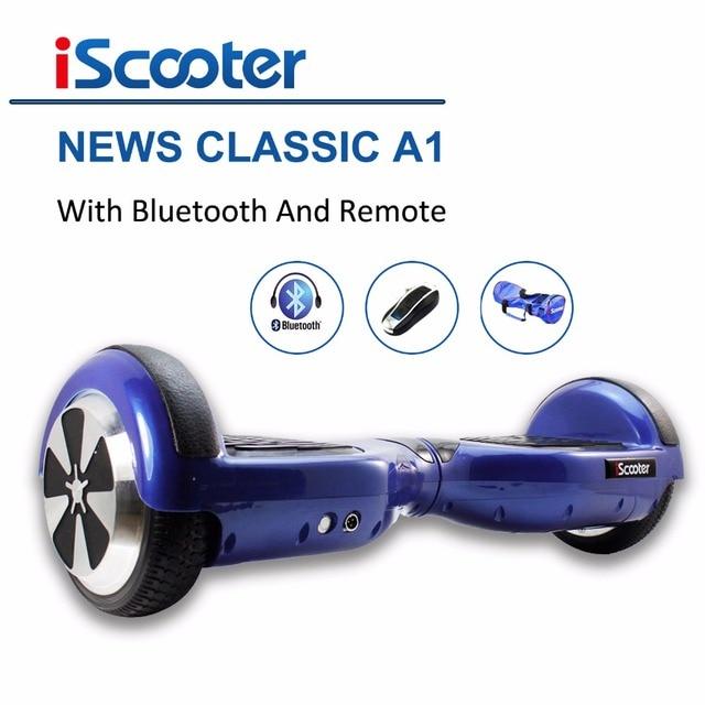 IScooter Hoverbaord 6.5 дюймов 700 Вт Электрический балансируя Скутер для Взрослых Детей скейтборд 6.5 колеса giroskuter с bluetooth