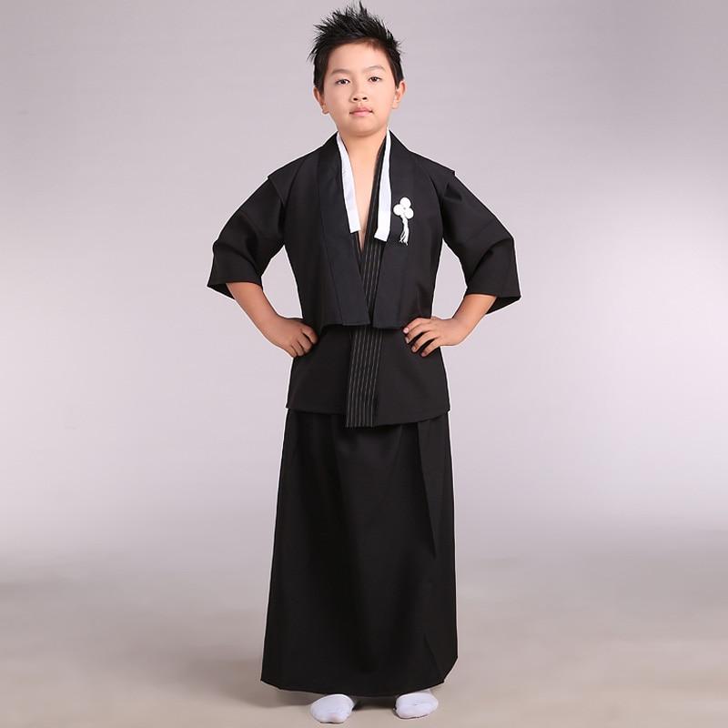 Child Kimono Male Costume Costumes Japanese Swordmen