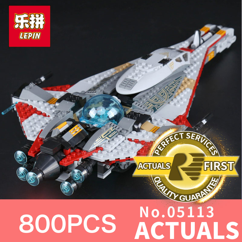 800Pcs Lepin 05113 the Star Genuine Classic Republic Cruiser Wars Educational Building Blocks Bricks Toys Gift LegoINGlys 75186 lepin 6125 stucke star classic modell wars die ucs st04 republic cruiser educational building blocks bricks spielzeug mode