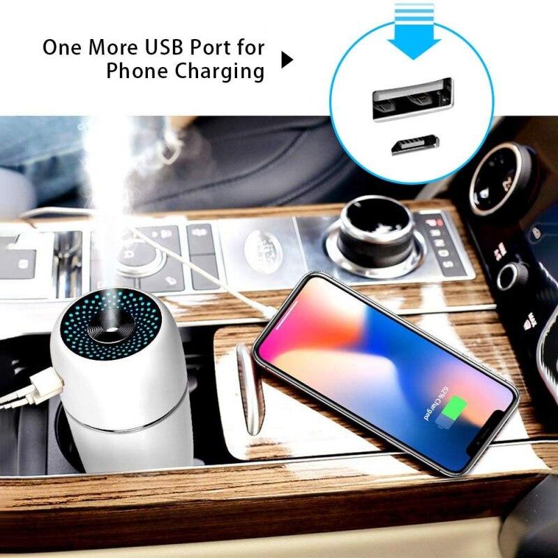 Newest Mini Car Humidifier Home Silent Desktop Portable USB Air Purifying Humidifier