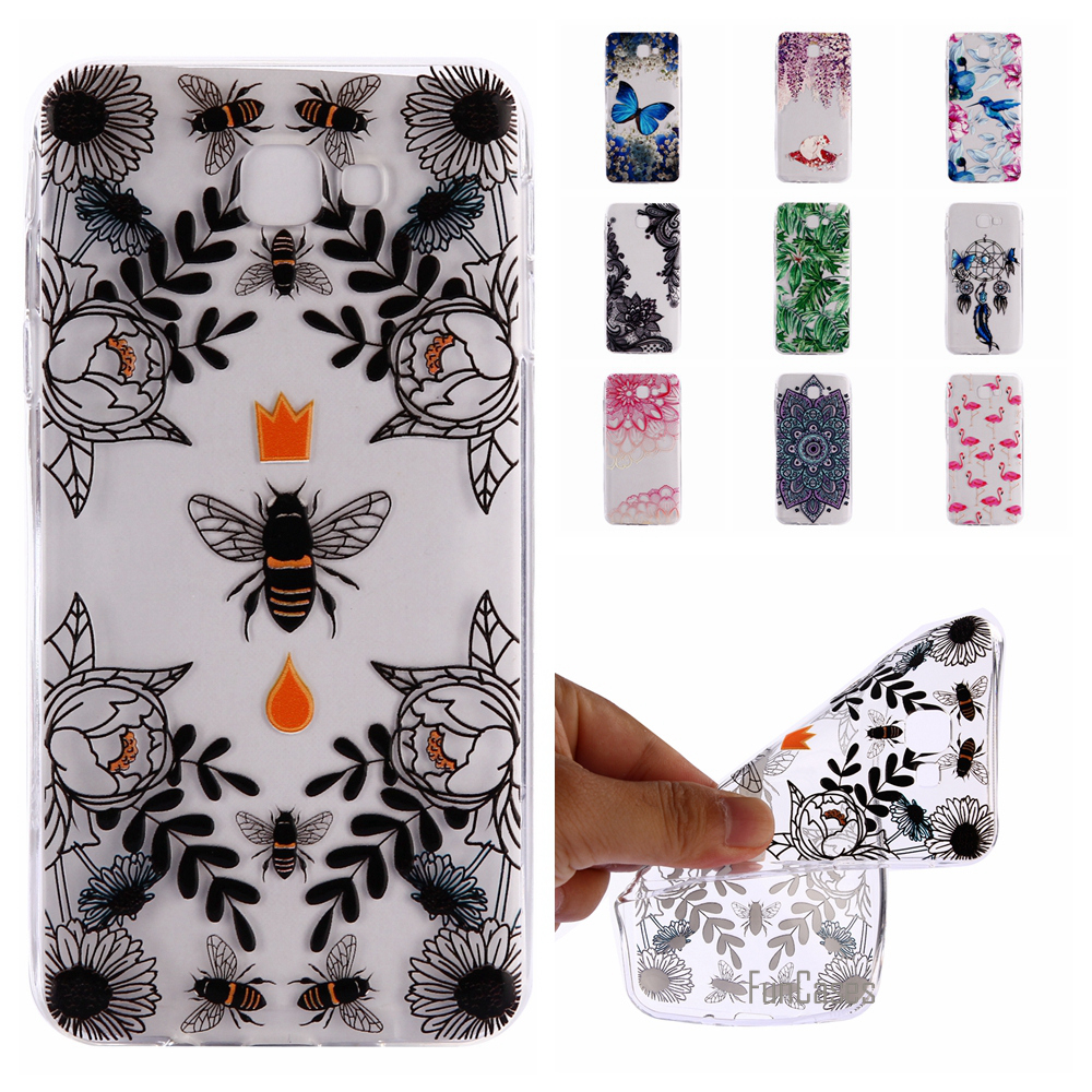 Top Quality Butterfly Case For Samsung J5 Prime J2 J7 2017 A3 A5 J3 2016 Soft TPU Violet Case Cover For Samsung S7 Edge S9 Plus