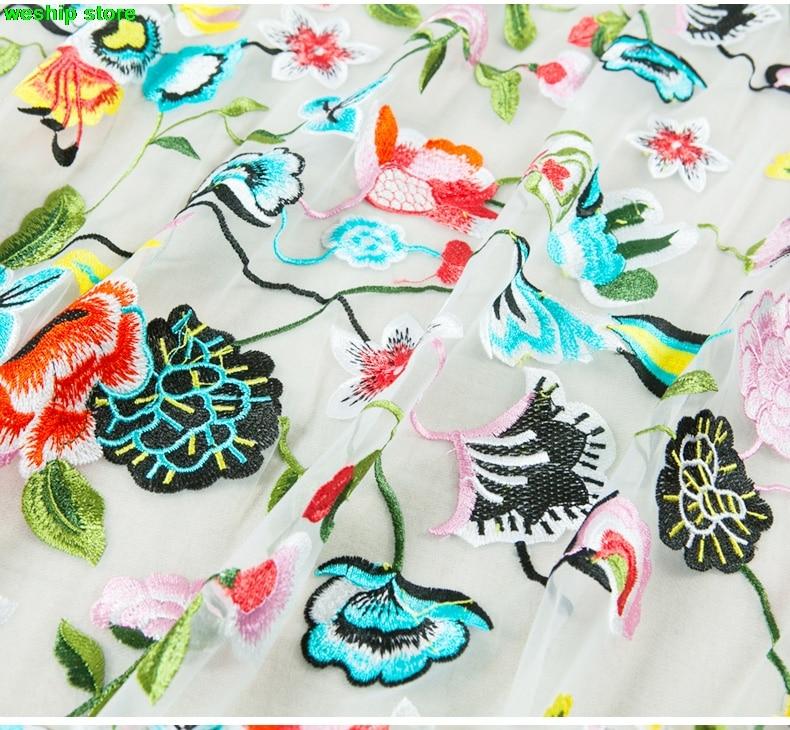 Exclusive High-end Fashion Fabrics Net Yarn Embroidery Fabric Lace Fabrics Flower Bud Silk For Dress Diy Fabric