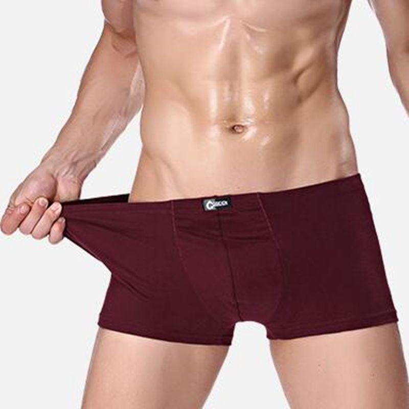 3 pieces/lot Brand Boxers Men Underwear Sexy Mens Boxer Shorts Male Panties Mens Trunks male healthy Boxer Shorts Wholesale