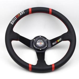 Pvc raliart volante esportivo, 350mm 14 polegadas, preto, raio universal, corrida, volante